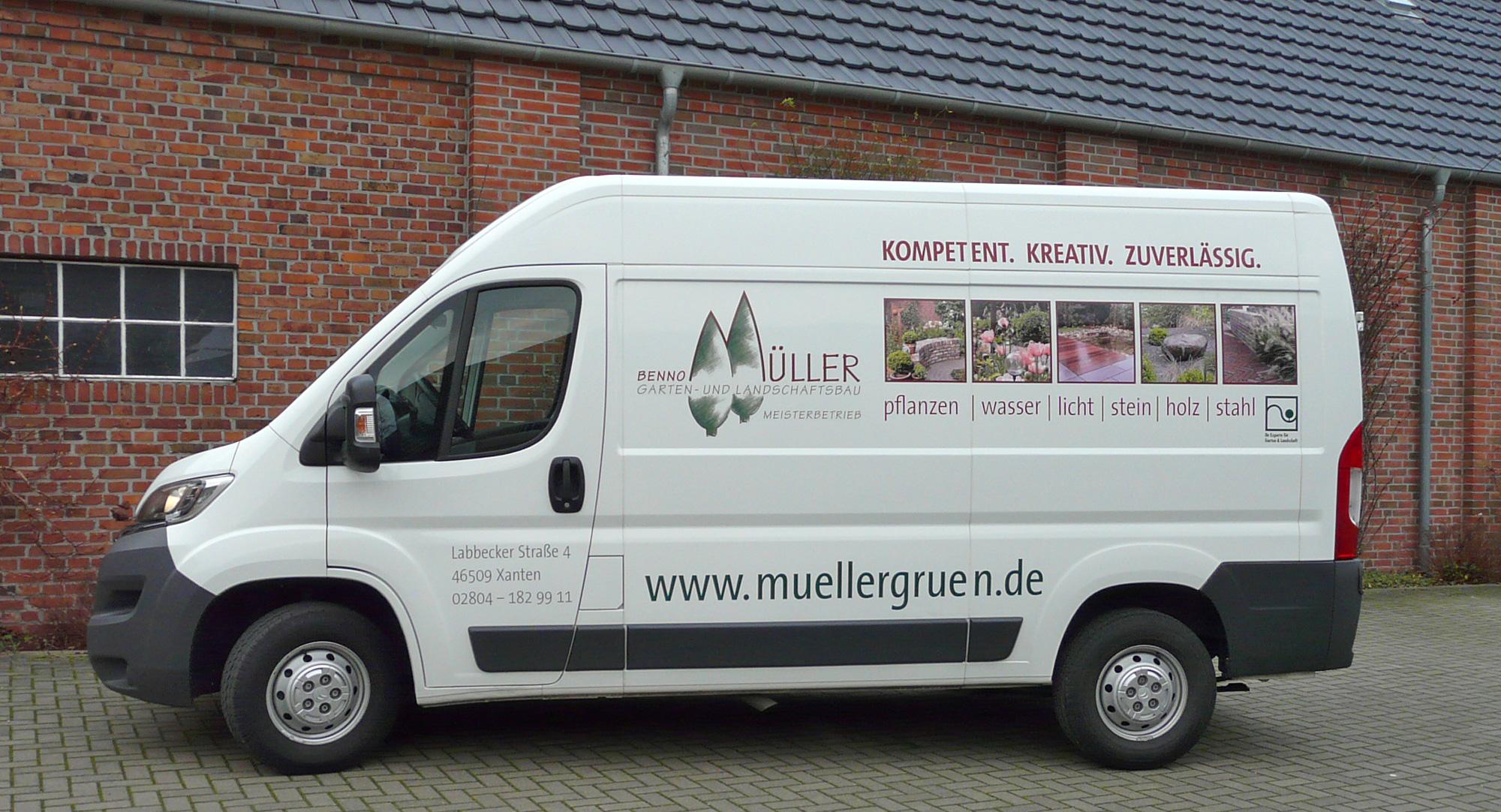 Garten- und Landschaftsbau Benno Müller – Busbeschriftung