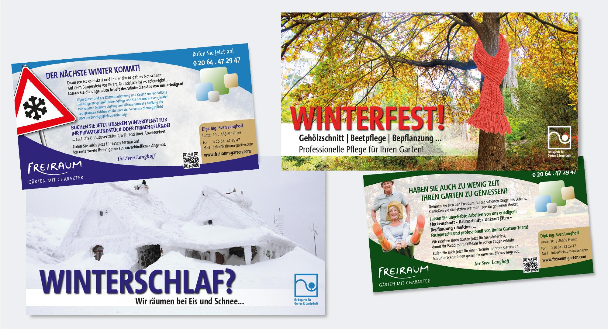 Freiraum – Sven Langhoff, Hünxe: Mailingaktion in Kooperation mit Gartenbau Benno Müller, Xanten