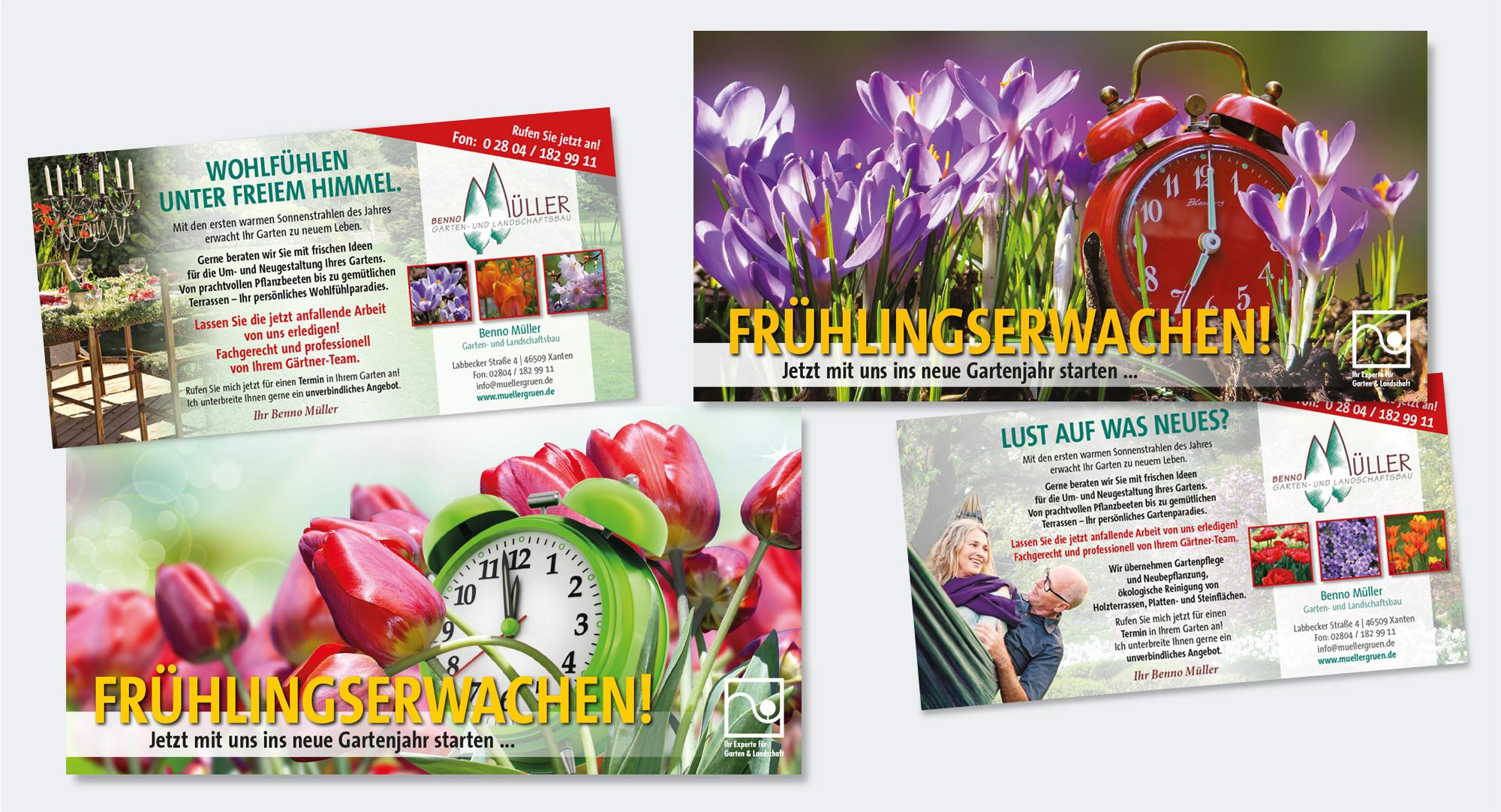 Gartenbau Benno Müller, Xanten – Mailingaktion in Kooperation mit Freiraum – Sven Langhoff, Hünxe