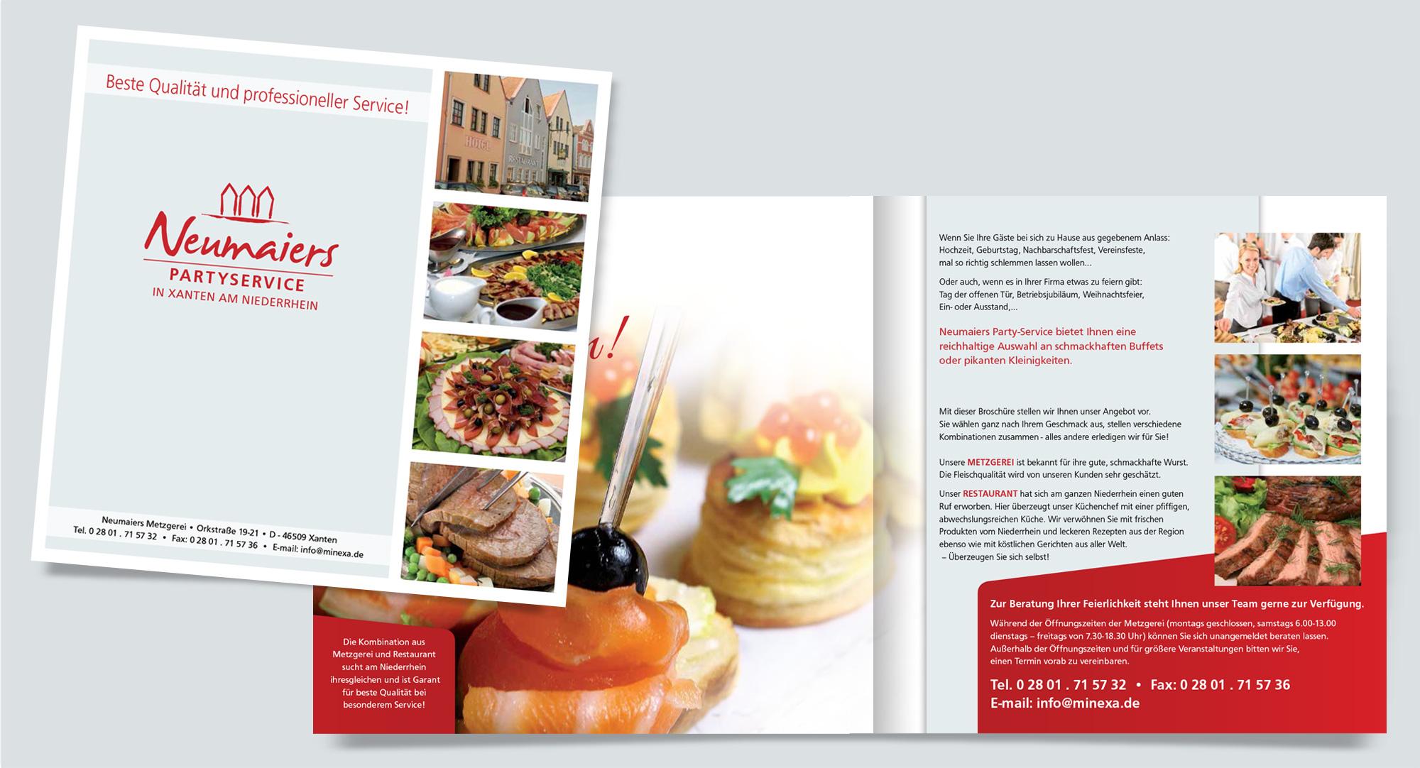 Partyservice-Mappe für Hotel-Restaurant Neumaier in Xanten