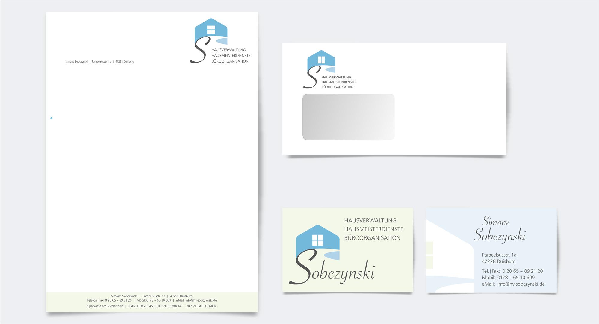Hausverwaltung Simone Sobczynski – Geschäftsausstattung