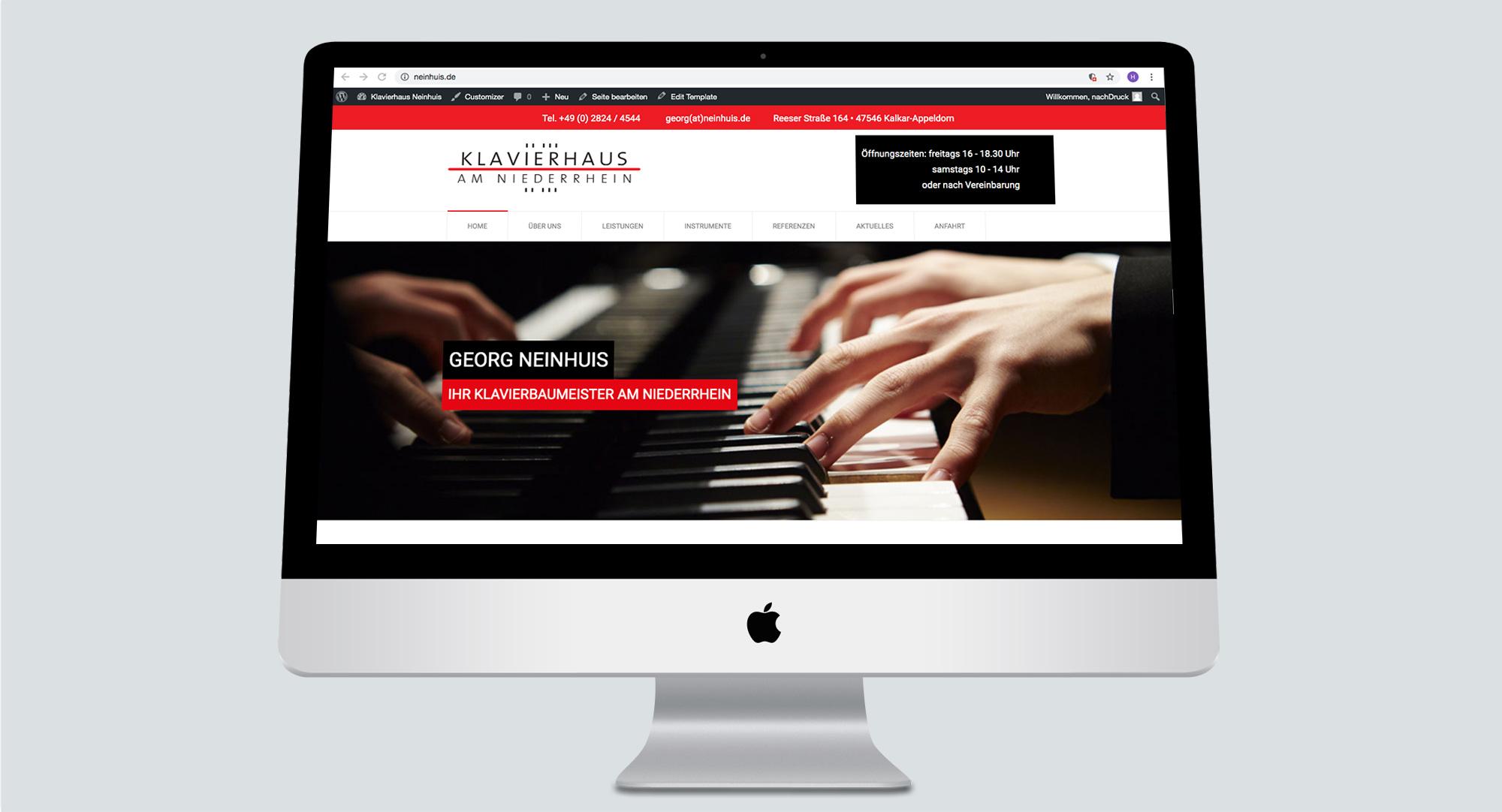 Klavierhaus am Niederrhein – Georg Neinhuis Klavierbaumeister